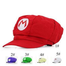 China 2019 Hot NS Game Super Mario Odyssey Cosplay Hat Halloween Adult Child Anime Super Mario cotton Hat Cap Luigi Bros Cosplay Cap C52 supplier cosplay mario luigi bros suppliers