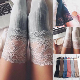 $enCountryForm.capitalKeyWord Australia - 2018 Brand New Women Winter Cable Knit Over Knee Long Boot Thigh-High Warm Stockings Lace Leggings