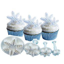 $enCountryForm.capitalKeyWord Australia - Christmas snowflake cookies biscuit mold fondant sugarcraft plunger cookie cutters Xams Snow cupcake cake decorating tool