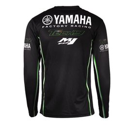 Quick Dry Shirts For Men Australia - ew Motorcycle Racing Long Sleeve T-shirt for Yamaha Moto GP Racing Wear Black Jersey motocross MTB DH MX riding quick dry