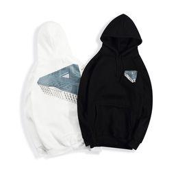 768e4da5d7fe 18SS Fashion Black white PALACES men classic sweatshirts solid thick fleece  hoodies Skateboards basic hoodie casual sports tops sweater men
