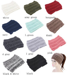 Fascinator online shopping - Knitted Headband caps Adults Sport Winter Warm Beanies Hair Accessories Boho Hairbands Fascinator Hat Head Party Hats colors GGA1473