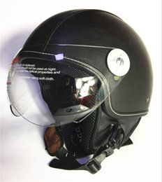 $enCountryForm.capitalKeyWord Australia - NEW Leather Motorcycle Helmet Retro Vintage Steampunk Cruiser Chopper Scooter Cafe Racer Moto Helmet 3 4 Open Face DOT