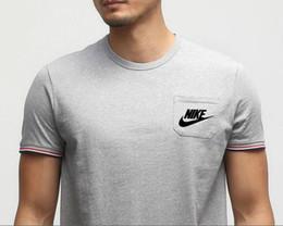 Опт Jogger мужская футболка новая мода футболка хлопок спортивная рубашка хлопок спортивная рубашка хлопок спортивная рубашка карман футболка для мужчин