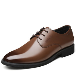 $enCountryForm.capitalKeyWord NZ - Brand Luxury Genuine Leather Men Oxford Shoes Pointed Toe Men Dress Shoes High Quality British Style Lace-up Male Wedding Shoes NGH-H
