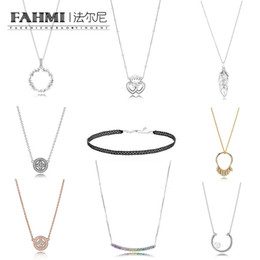 Interlock necklace online shopping - FAHMI Sterling Silver CIRCLE OF SEEDS Pearl Shards of Sparkling INTERLOCKED CROWN HEARTS FLOATING GRAINS NECKLACE