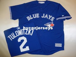 "cheap shirts for sale NZ - Cheap baseball #2 TULOWITZKI ""Cool Base"" SEWN shirt JERSEY BLUE Mens stitched jerseys Big And Tall SIZE XS-6XL For sale"