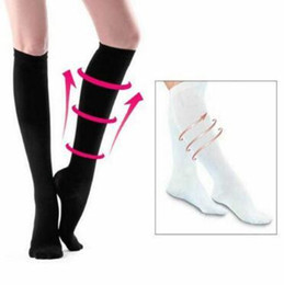 Bright Long Miracle Compression Knee Socks Blood Circulation Stockings Breathable Fat Burn Leg Slimming Socks Anti Fatigue Male Socks Underwear & Sleepwears