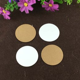 $enCountryForm.capitalKeyWord NZ - 2000 pcs lot 4* 4 cm white brown paper round cardboard Clothing Tags Blank packaging gift paper  diy design round tag