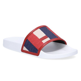 Sole flip flopS menS online shopping - Designer Slippers luxury sylvie slide sandals Embossed vintage for Mens women Rubber Flat sole bright colorful summer feel Beach flip flops