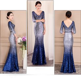 mermaid fishtail skirt Australia - Prom Dresses 2019 new winter high-end atmosphere fishtail sequined dress wrap buttock long fishtail skirt dress