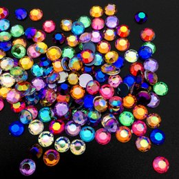 plastic health Canada - Beauty & Health AB Colorful 5MM Mixed color Nail Art Rhinestones crystal Acrylic Round Glitter DIY Nail Decorations