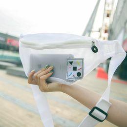$enCountryForm.capitalKeyWord Australia - Designer-Korean Fashion Women Fanny Pack Mesh Transparent Shoulder Waist Pack Adjustable Belt Bag for Summer Beach Holiday