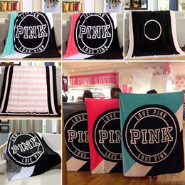 Heated blankets online shopping - Love Pink Letter Blanket cm Soft Coral Velvet Beach Towel Blankets Air Conditioning Rugs Comfortable Carpet