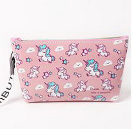 $enCountryForm.capitalKeyWord Australia - Korea Unicorn cosmetic bag receipt bag large capacity portable water-proof Travel Portable wash and gargle bag