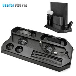 Fan Moving Australia - High quality PS4 PRo Console Vertical Cooling Stand Cooler Fan with Controller Charging Station PS Move Charger