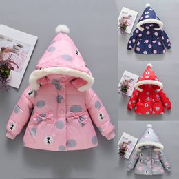 BaBy Boy velvet jacket online shopping - Winter Coats For Kids With Hoods Baby Boy Girl Winter Coats Jacket Thick Ears Snowsuit Hoodie Velvet Clothes Abrigo Nina Modis