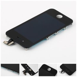 touch screen panel price Australia - for iPhone 4 4S LCD Display & Touch Screen Digitizer Full Assembly Cheap Price 30pcs lot Black White DHL Free Shipping
