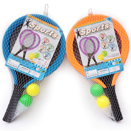 Wholesale Big Plastic Balls Australia - Outdoor Kids Badminton Racket Kindergarten Tennis Racket Baby Sports Toys Balls Racquet