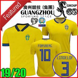 Euro soccEr online shopping - Euro Sweden soccer jerseys European league home FORSBERG BERG LINDELOF Guidetti maillot de foot football shirt