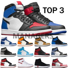 Discount high top running shoes for women - New Top 3 1 high OG Basketball shoes 1S mens Chicago Game royal Black toe Shadow NOT for resale metallic red UNC trainer