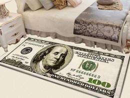 Crative Non-Slip Area Rug Modern Home Decor Carpet Runner Dollar Printed Carpet One Hundred Dollar 100 Bill Print on Sale