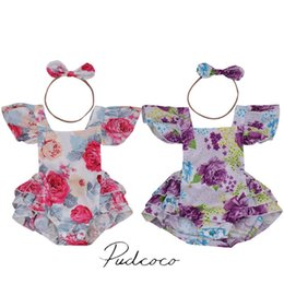 $enCountryForm.capitalKeyWord Australia - 2017 Rose Red Purple Newborn Infant Baby Girl Floral Romper Jumpsuit Outfits Sunsuit