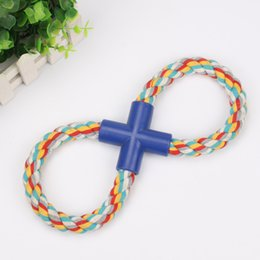 $enCountryForm.capitalKeyWord NZ - Eight Character Type Knot Pets Dog A Molar Tooth Bite Resistance Interaction Cotton Rope Toys Hand Pull Cord Factory Direct Selling 1 9mq p1