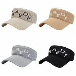 golf tennis sun visors Australia - Empty Top Visor Hat Tennis Sports Cap Men Women Sun Hats Adjustable Casual Knitted Golf Outdoor Caps Male Female Cap