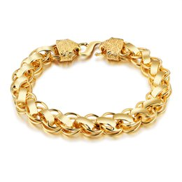 wedding thick gold chain Australia - Fashion luxury gold color retro style copper plated thick bracelet Luxury minimalist charm men send opponent chain 3-KS487