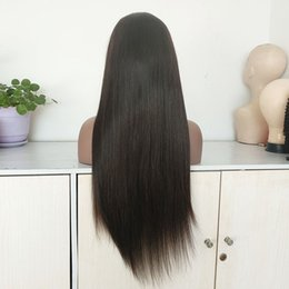 24 Inch Wigs Australia - 24 inch brazilian women hair full lace wig 150% density in stock indian remy human hair lace front wig for black women