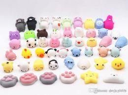 Ingrosso 10 pezzi Squishy lento aumento Jumbo Toy Animals Cute Kawaii Spremere Cartoon Toys Mini Squishies lento aumento del giocattolo
