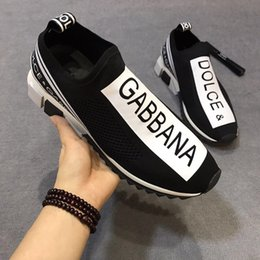 Link cLosure online shopping - 2019 New Shoes Link Embossed Luxury Fashion Casual Designer Men Women Shoes Sneakers Dolce Gabbana DolceGabbana DG