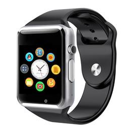 A1 smart watch bluetooth smartwatch para iphone ios samsung xiaomi huawei oppo vivo android phone relógio inteligente relógio esportivo smartphones em Promoção