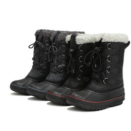 $enCountryForm.capitalKeyWord Australia - Winter Shoes for Kids Child Waterproof Snow Boots Cotton Materials Keep Warm Fashion Casual Lace Up Half Boots Comfortable TO Wear