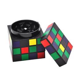 Cube diameter online shopping - New Smoke Grinder Aluminum Alloy Material Magic Cube Shape Smoke Grinder Aluminum Alloy Large mm Diameter Smoke Grinder