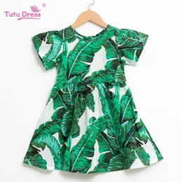 $enCountryForm.capitalKeyWord UK - Kids Dresses For Girls Summer Dress Beach Style Floral Print Leaves Party Dress For Girls Vintage Toddler Girl Baby Clothing J190520