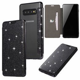 Bling Leather Purses Australia - Sparkle Luxury Wallet Leather Case For Galaxy S10 S10e Lite Plus Plating Cover Bling Diamond Chromed Shiny Glitter Flip Purse Plating TPU