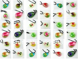 $enCountryForm.capitalKeyWord Australia - Fashion Jewelry Necklace wholesale 12pieces lots rose flower green grass sun flower mix style pendant&necklace free shipping