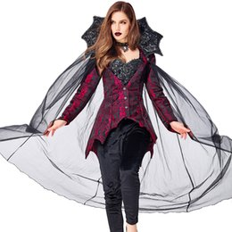 vampire queen dress 2021 - Lcw women's new design various role playing Halloween Christmas costumes sexy cosplay prom dress Vampire Count Queen