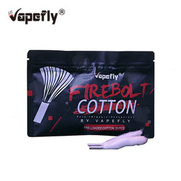 Organic Cotton For Wicks Australia - Retail Original 20pcs pack Vapefly Firebolt Cotton Vape Cotton Pre-loaded organic Cotton for DIY RDA RBA Atomizer Coil Wick
