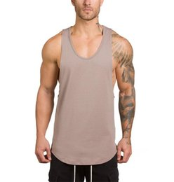 $enCountryForm.capitalKeyWord Australia - Mens Designer Vest 2019 Summer Sleeveless Sports Outerwear V-Neck Breathable Men Tshirts Casual Soft Tops Clothing 5 Colors M-2XL