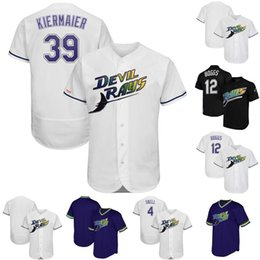 3cebc5ed9f1 Mens Tampa Bay Jersey 12 Wade Boggs 4 Blake Snell 39 Kevin Kiermaier Rays  Turn Back The Clock Home Cooperstown Collection Baseball Jerseys