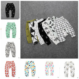 Toddler carToon TighTs online shopping - Kids Clothes Baby PP Pants Ins Girls Cartoon Fox Leggings Toddler Cotton Print Harem Pants Penguin Casual Tights Trousers Clothing YL946
