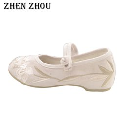 Comfortable Soft Women Shoes Australia - Designer Dress Shoes 2019 new increase in soft bottom comfortable single embroidered casual women manufacturers Beijing cloth