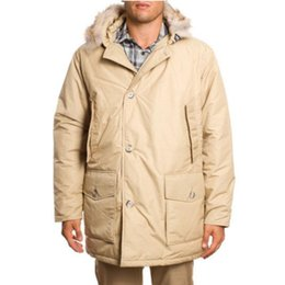 $enCountryForm.capitalKeyWord Australia - Long jacket men Arctic Anorak beige Down jacket mens coat Warm winter coat Raccoon fur collar waterproof fabric clothing