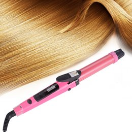 Hot tools straigHtening iron online shopping - 2018 Hot Selling Hair Curler Iron Digital Display Of Temperature in Hair Straightening and Curling Irons Styling Tools