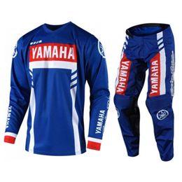 2019 Lo último para yamaha / Husqvarna Husky Style Motocross Jersey + Pantalones Combos ATV BMX DH MX Moto Traje Dirt Bike Combo Set J