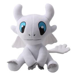 $enCountryForm.capitalKeyWord Australia - 35cm 13.8inch 2019 New How To Train Your Dragon 3 Light Fury Soft Plushed Toy Figure Toy White Dragon Stuffed Doll Kids Baby Present Gift