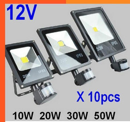 $enCountryForm.capitalKeyWord Australia - (10pcs lot) 12V 10W 20W 30W 50W PIR LED Floodlight with Motion detective Sensor Outdoor LED Flood light Lamp outdoor lighting